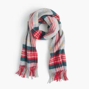 Jcrew brushed wool scarf in tartan plaid